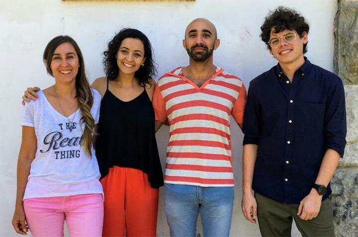 Claudia Albrecht (izq.), María Cecilia Cittadini, Elio Soria y Agustín Miranda, del el Instituto de Investigaciones en Ciencias de la Salud (Universidad Nacional de Córdoba-CONICET).